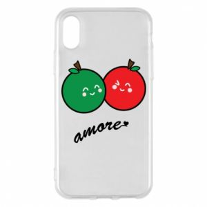 Phone case for iPhone X/Xs Apples in love - PrintSalon