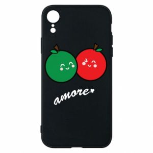 Phone case for iPhone XR Apples in love - PrintSalon