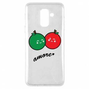 Phone case for Samsung A6+ 2018 Apples in love - PrintSalon