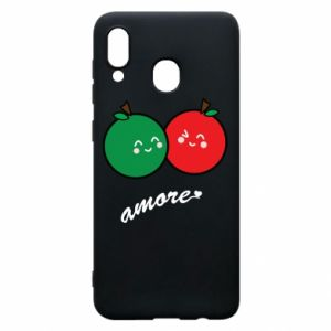 Phone case for Samsung A20 Apples in love - PrintSalon