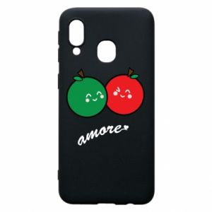 Phone case for Samsung A40 Apples in love - PrintSalon
