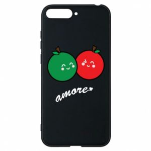 Phone case for Huawei Y6 2018 Apples in love - PrintSalon