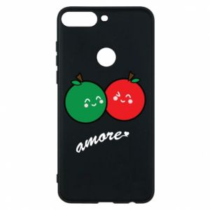 Phone case for Huawei Y7 Prime 2018 Apples in love - PrintSalon