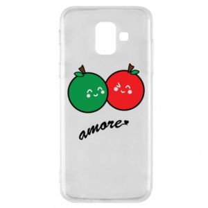 Phone case for Samsung A6 2018 Apples in love - PrintSalon