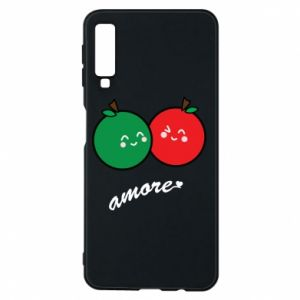 Phone case for Samsung A7 2018 Apples in love - PrintSalon