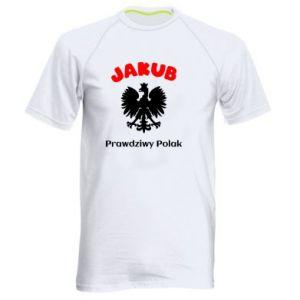 Męska koszulka sportowa Jakub jest prawdziwym Polakiem