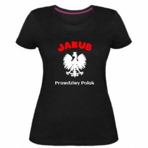 Damska premium koszulka Jakub jest prawdziwym Polakiem