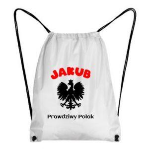 Plecak-worek Jakub jest prawdziwym Polakiem