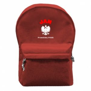 Plecak z przednią kieszenią Jan jest prawdziwym Polakiem