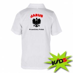 Dziecięca koszulka polo Jakub jest prawdziwym Polakiem