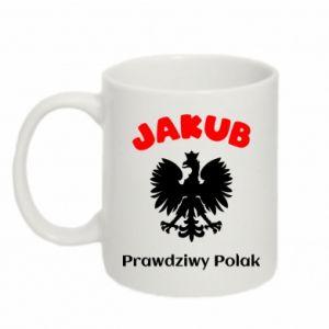 Mug 330ml Jakub is a real Pole