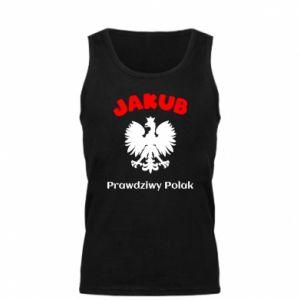 Męska koszulka Jakub jest prawdziwym Polakiem