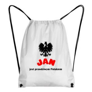 Plecak-worek Jan jest prawdziwym Polakiem