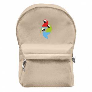 Plecak z przednią kieszenią Jaskrawe papugi