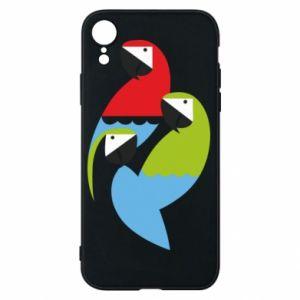 Etui na iPhone XR Jaskrawe papugi