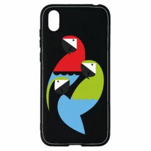 Etui na Huawei Y5 2019 Jaskrawe papugi