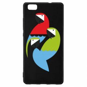 Etui na Huawei P 8 Lite Jaskrawe papugi