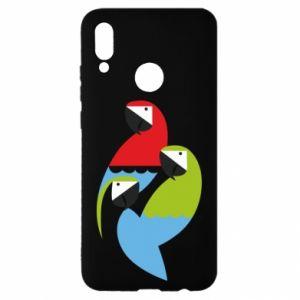 Etui na Huawei P Smart 2019 Jaskrawe papugi
