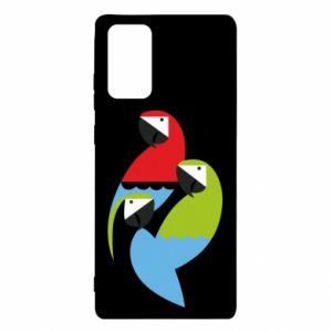Etui na Samsung Note 20 Jaskrawe papugi