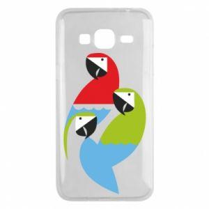 Etui na Samsung J3 2016 Jaskrawe papugi