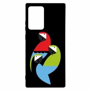 Etui na Samsung Note 20 Ultra Jaskrawe papugi