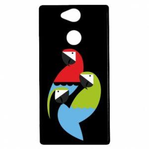Etui na Sony Xperia XA2 Jaskrawe papugi