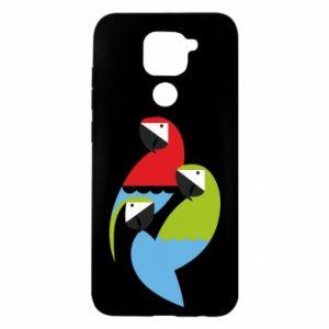Etui na Xiaomi Redmi Note 9/Redmi 10X Jaskrawe papugi