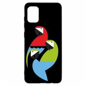 Etui na Samsung A31 Jaskrawe papugi