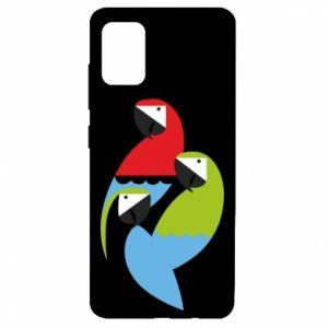 Etui na Samsung A51 Jaskrawe papugi