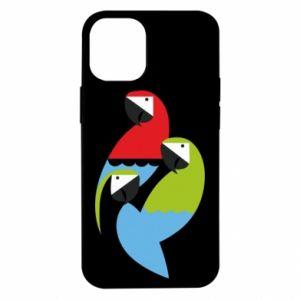 Etui na iPhone 12 Mini Jaskrawe papugi