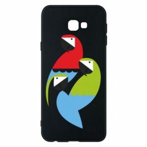 Etui na Samsung J4 Plus 2018 Jaskrawe papugi