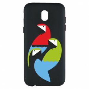 Etui na Samsung J5 2017 Jaskrawe papugi