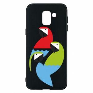 Etui na Samsung J6 Jaskrawe papugi