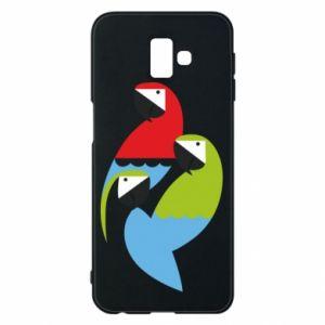 Etui na Samsung J6 Plus 2018 Jaskrawe papugi