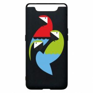 Etui na Samsung A80 Jaskrawe papugi