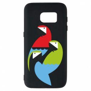 Etui na Samsung S7 Jaskrawe papugi