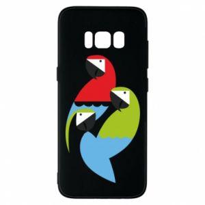 Etui na Samsung S8 Jaskrawe papugi