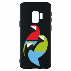 Etui na Samsung S9 Jaskrawe papugi