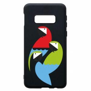 Etui na Samsung S10e Jaskrawe papugi