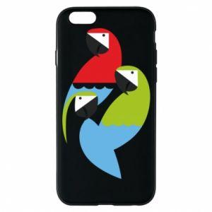 Etui na iPhone 6/6S Jaskrawe papugi