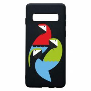 Etui na Samsung S10 Jaskrawe papugi