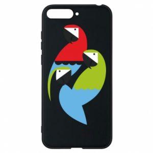 Etui na Huawei Y6 2018 Jaskrawe papugi