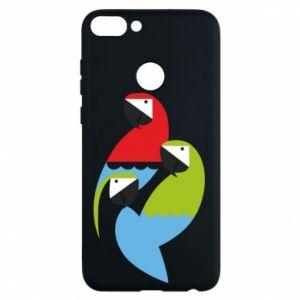 Etui na Huawei P Smart Jaskrawe papugi