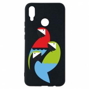 Etui na Huawei P Smart Plus Jaskrawe papugi