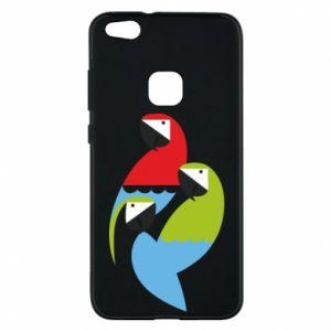 Etui na Huawei P10 Lite Jaskrawe papugi