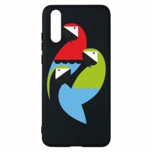 Etui na Huawei P20 Jaskrawe papugi