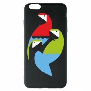 Etui na iPhone 6 Plus/6S Plus Jaskrawe papugi