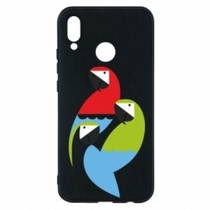 Etui na Huawei P20 Lite Jaskrawe papugi