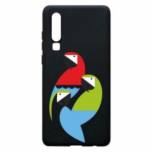 Etui na Huawei P30 Jaskrawe papugi