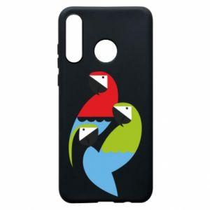 Etui na Huawei P30 Lite Jaskrawe papugi
